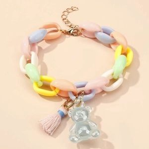 🎀 Gummy Bear Friendship Tassel Link Bracelet 🎀